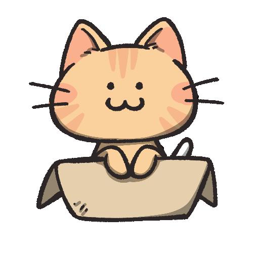茶トラ猫のフリーアイコン