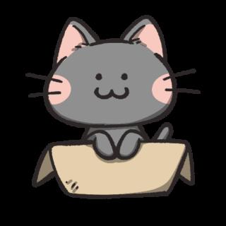 黒猫フリーアイコン07