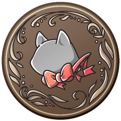 猫の丸形アイコン