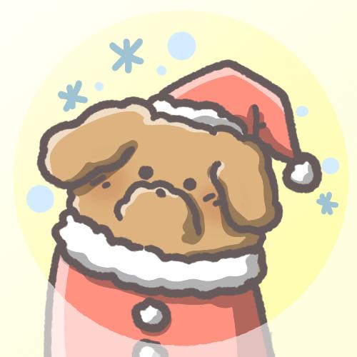 トイプードルフリーアイコン(クリスマスver)
