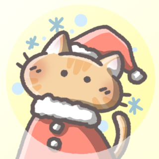 茶トラ猫(クリスマスver)
