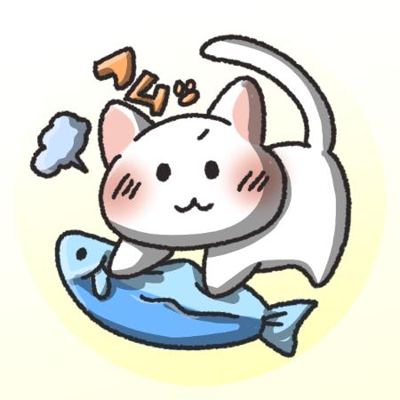 白猫フリーアイコン