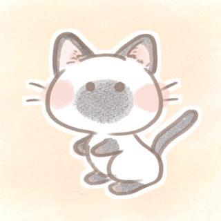 シャム猫さんフリーアイコン