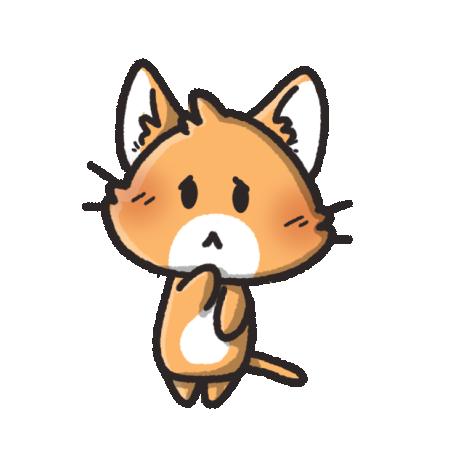 哀しい顔の猫