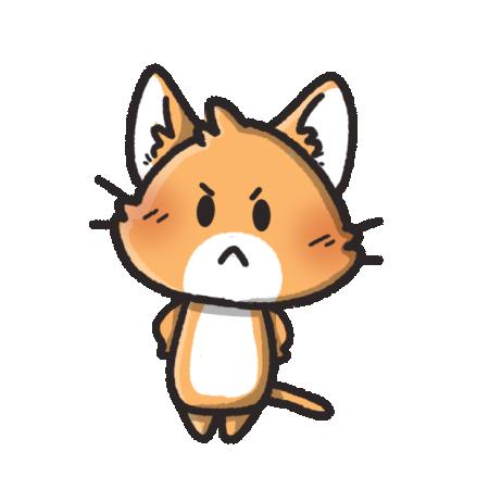 怒る猫のイラスト