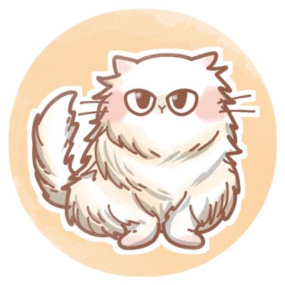 ペルシャ猫のフリーアイコン