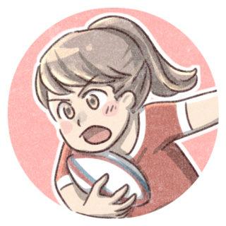 女子ラグビー選手