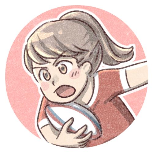 女子ラグビー選手のイラスト 可愛いアイコン イラストの無料素材サイト フリーペンシル