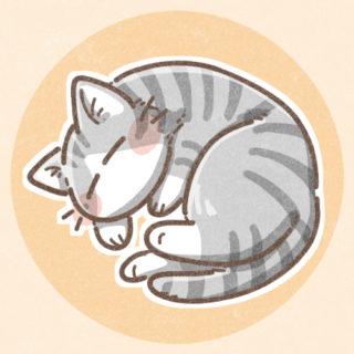寝ている猫のアイコン