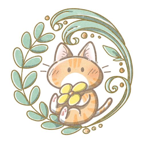 茶トラ猫のイラスト