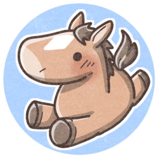 お馬のイラスト