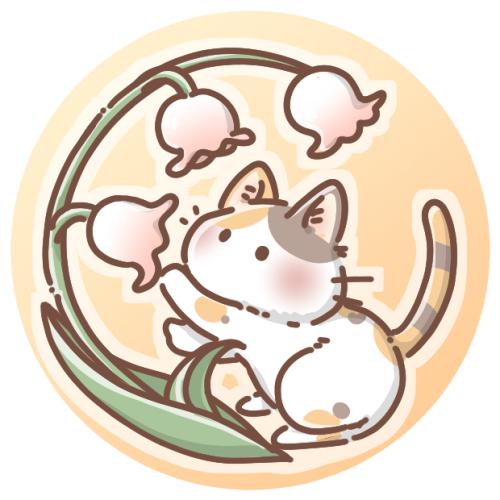 スズランとみけ猫のアイコン