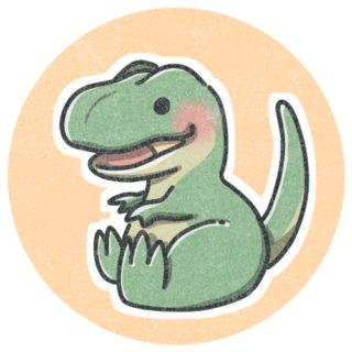 ティラノサウルスのアイコン