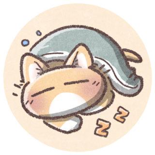 眠ってる猫のアイコン