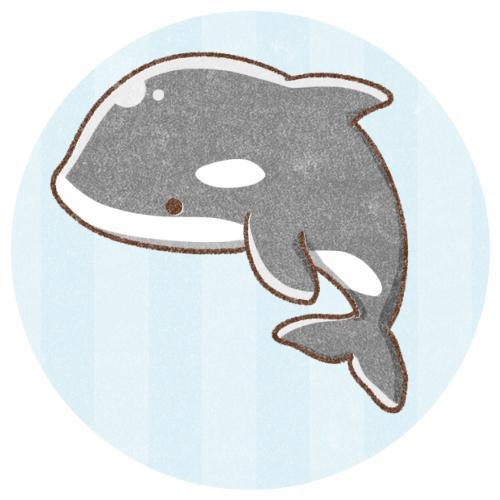 シャチのフリーアイコン フリーアイコン かわいいイラストの無料素材サイト フリーペンシル