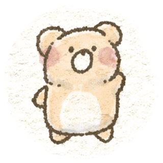くまの手描き風アイコン