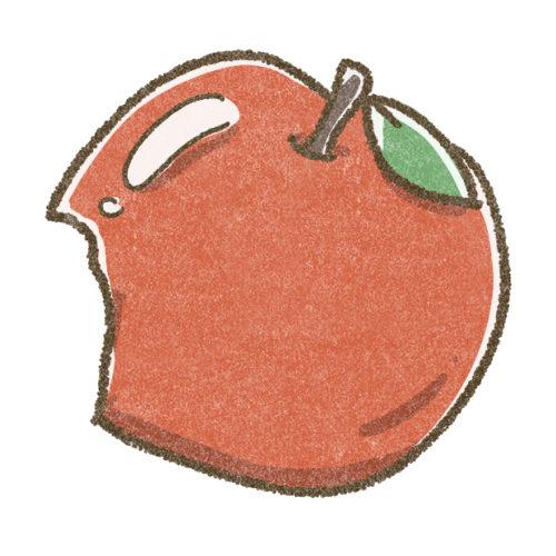 りんごのフリーアイコン