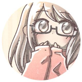 メガネの女の子のアイコン