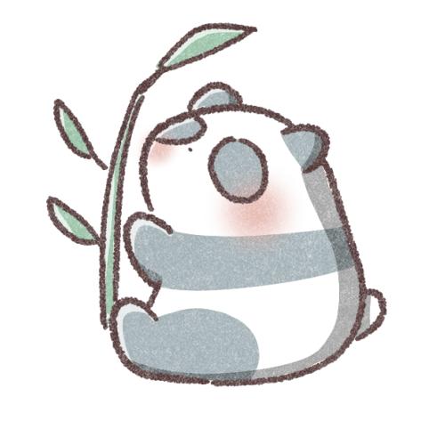 笹とパンダのアイコン