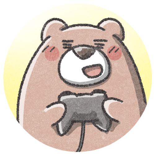 ゲームをするクマさんのアイコン 可愛いアイコン イラストの無料素材サイト フリーペンシル