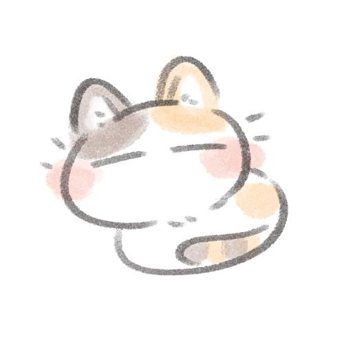 寝ているゆるいネコ