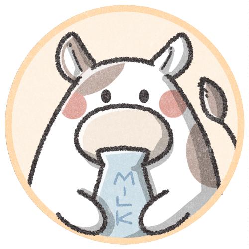 牛さんのフリーアイコン