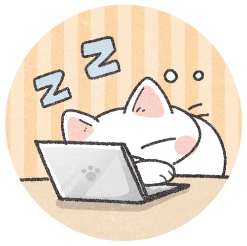 パソコンの前で寝ちゃう猫さん