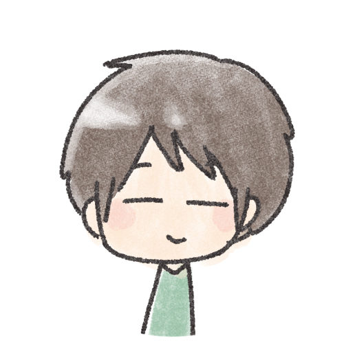 ゆるい笑顔の男の子
