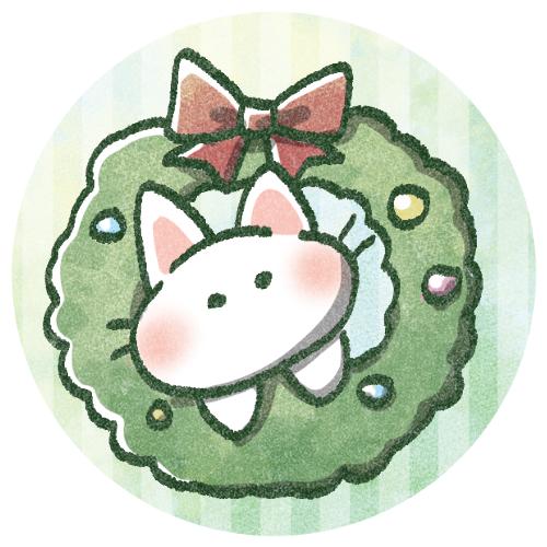 クリスマスリースねこさん