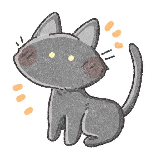 黒猫さんのフリーアイコン