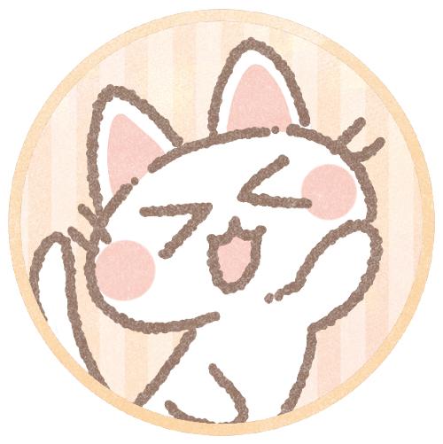 白猫のフリーアイコン