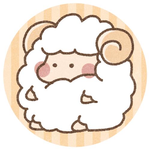 かわいい羊のアイコン