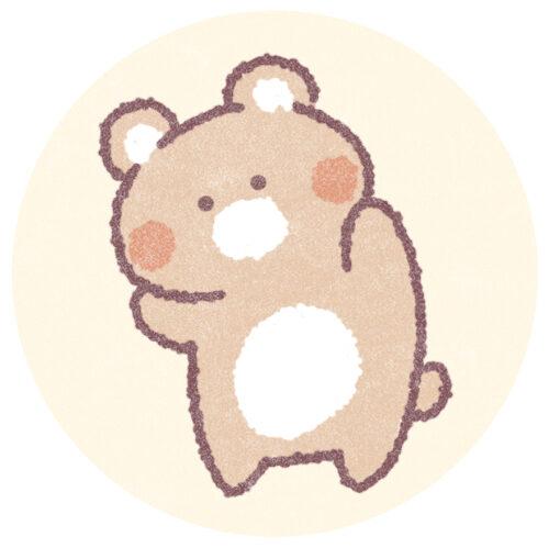 ゆるいクマのフリーアイコン