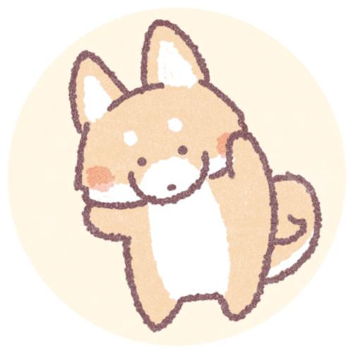 ゆるい犬のフリーアイコン