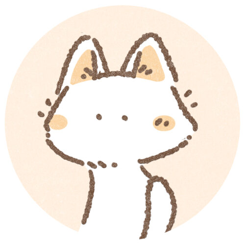 シンプルな猫さんのアイコン