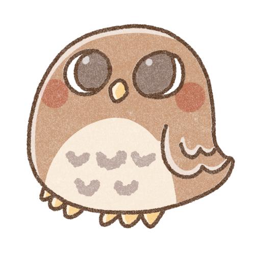 フクロウのアイコン