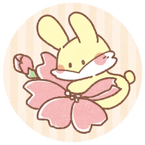 春桜とうさぎのフリーアイコン