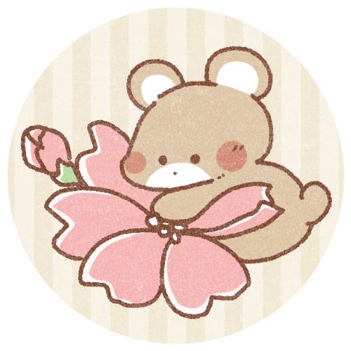 春桜とくまのフリーアイコン