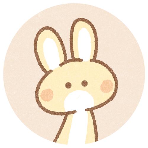 シンプルなウサギさんのアイコン