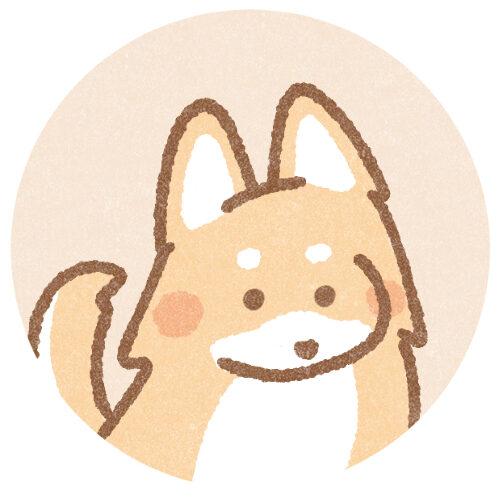 シンプルな犬のアイコン