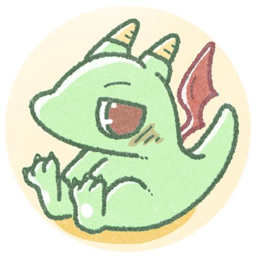 かわいいミニドラゴンのアイコン