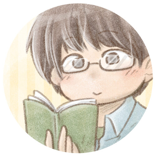 本を読む男性