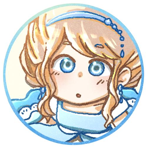 青いドレスの女の子