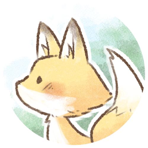 絵本タッチのキツネさん