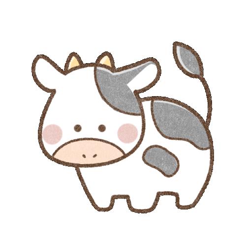 かわいい牛さん(背景透過)