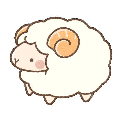 雄羊さんのイラスト(背景透過)