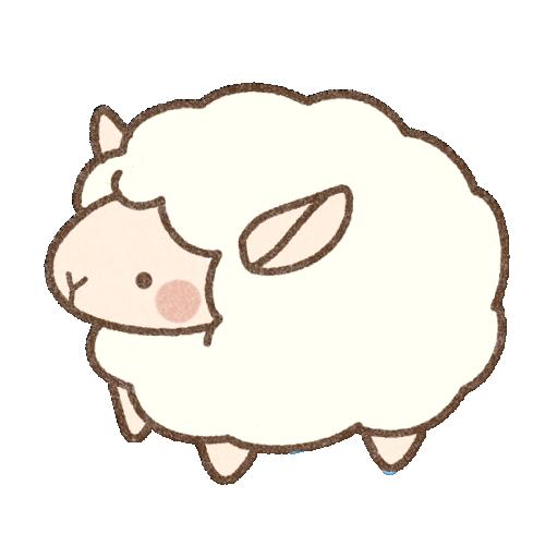 雌羊さんのイラスト(背景透過)