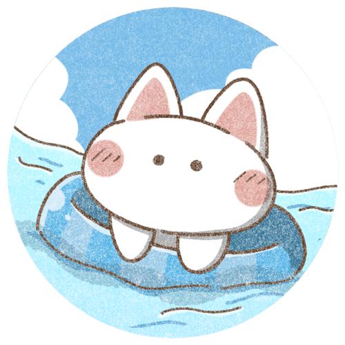 海水浴ねこさん