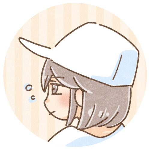 眠そうな横顔の女の子
