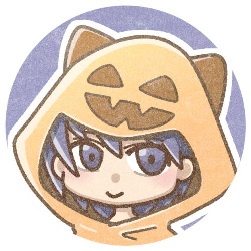 かぼちゃ猫耳フード
